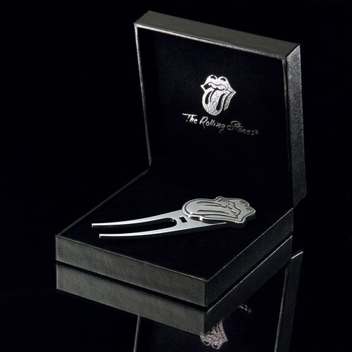 The Rolling Stones Golf Goods (Official Licks Logo) - Divot tool 3D Tongue - Antique Silver