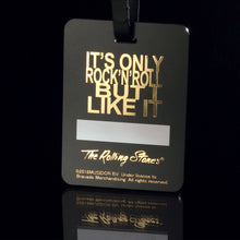 The Rolling Stones Golf Goods (Official Licks Logo) - Acrylic Name Tag with Foil Print - Black x Gold