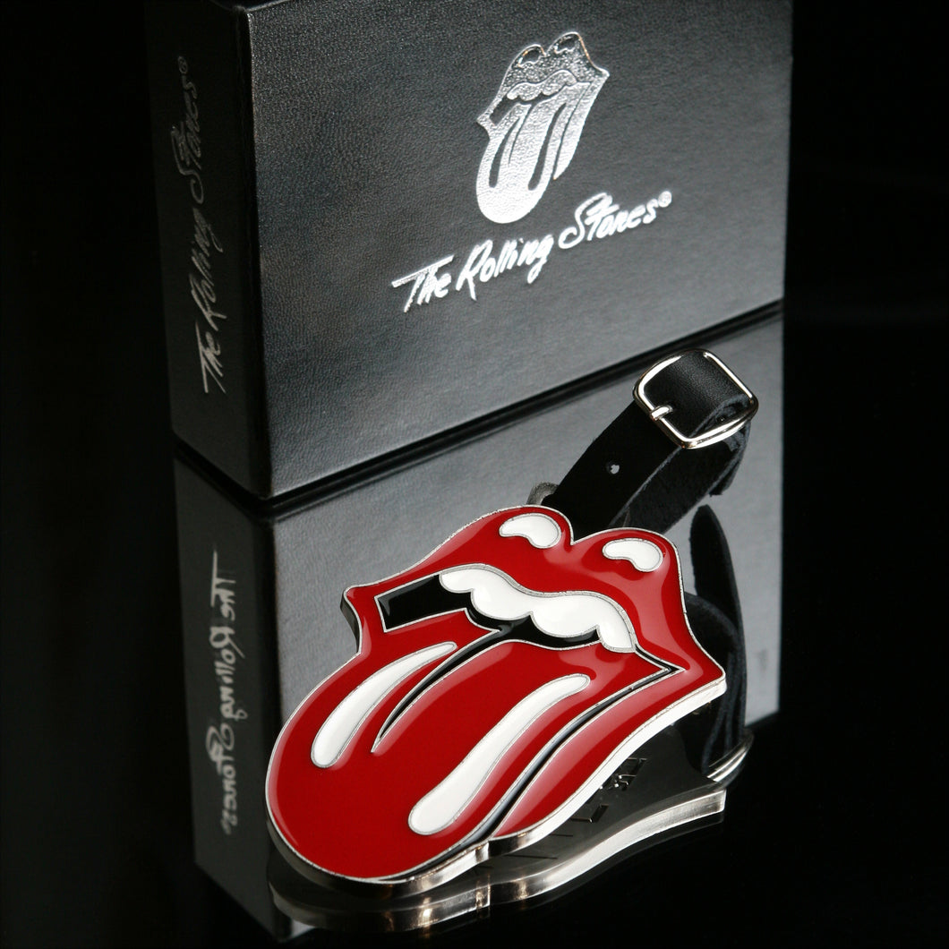 The Rolling Stones Golf Goods (Official Licks Logo) - Metal Alloy Name Tag - Red