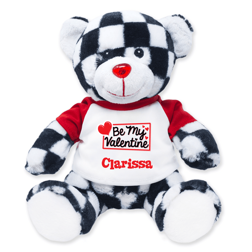 "9"" Checkered Teddy Bear"