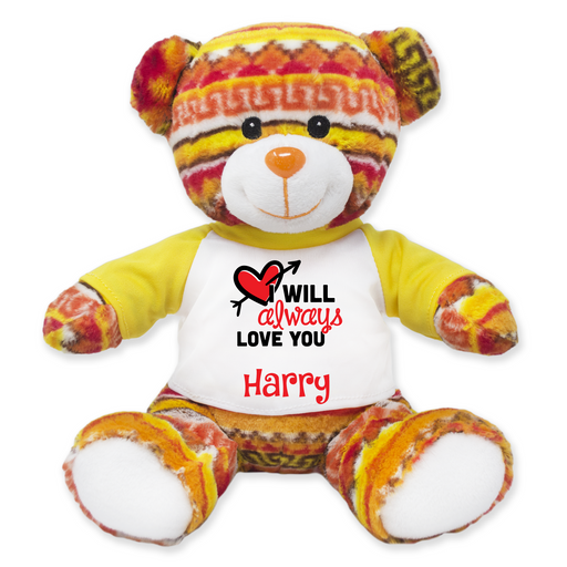 "9"" Tribal Teddy Bear"