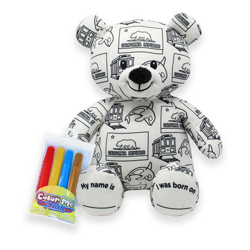 "8.5"" California Color Me Plush Teddy"