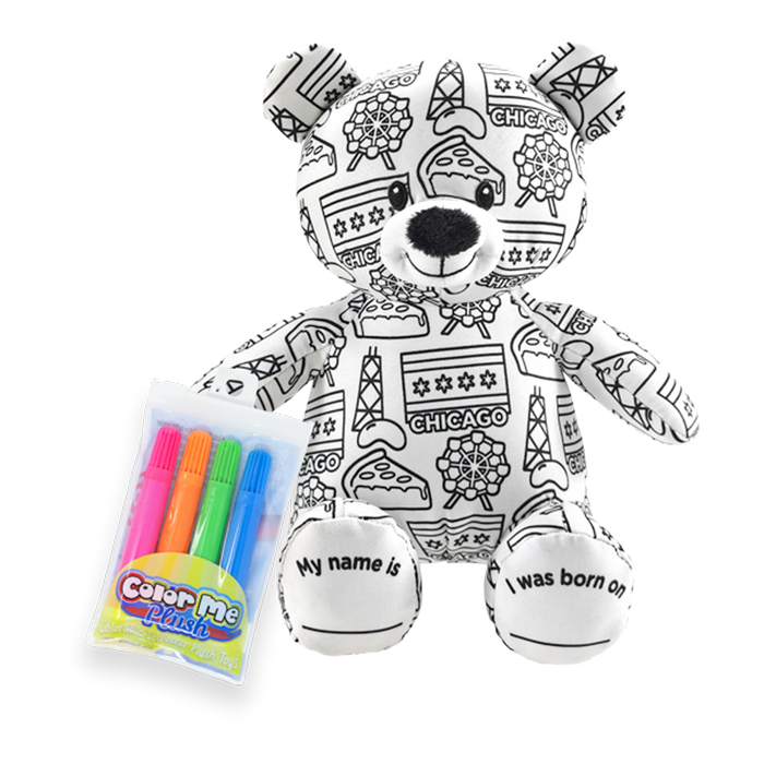 "8.5"" Chicago Color Me Plush Teddy"