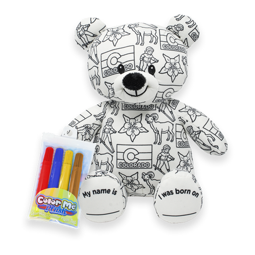 "8.5"" Colorado Color Me Plush Teddy"