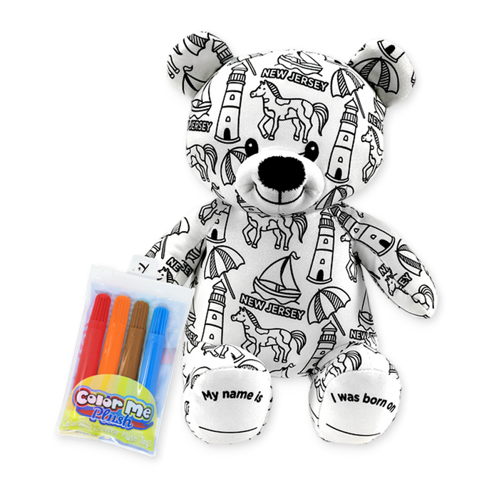 "8.5"" New Jersey Color Me Plush Teddy"