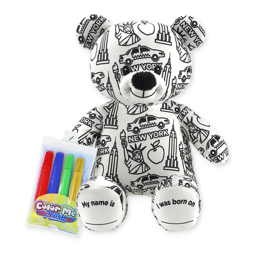 "8.5"" New York Color Me Plush Teddy"
