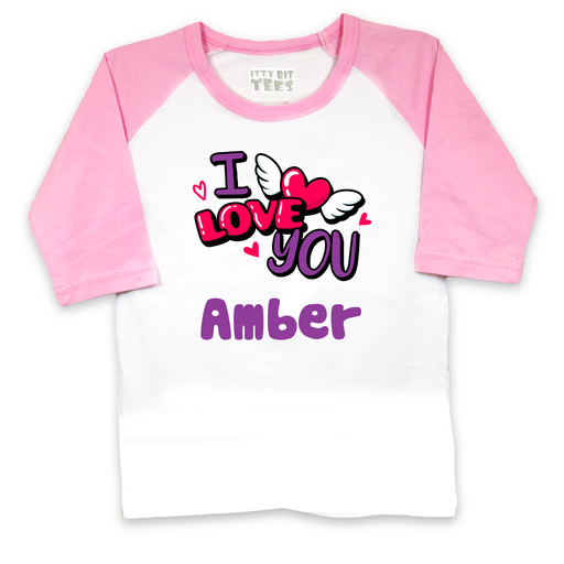 """I Love You"" Toddler Raglan Shirts (Assorted Colors/Sizes)"