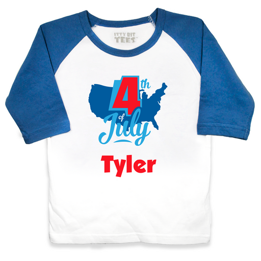 4th of July Toddler Raglan Shirts (Assorted Colors/Sizes)