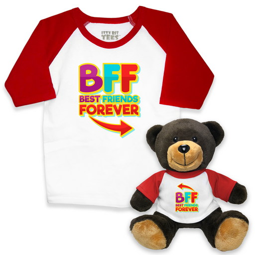 """BFF"" Toddler Tee + Teddy Bear Bundle"