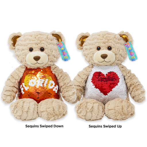 "9.5"" Florida Magic Sequins Teddy Bear"