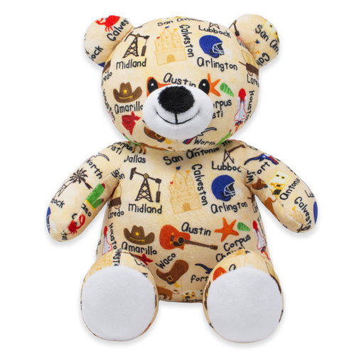 "9"" Texas United Teddy Bear"