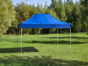 Carpa plegable de 4,5x3 m - azul