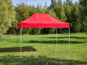 Carpa plegable de 4,5x3 m - rojo