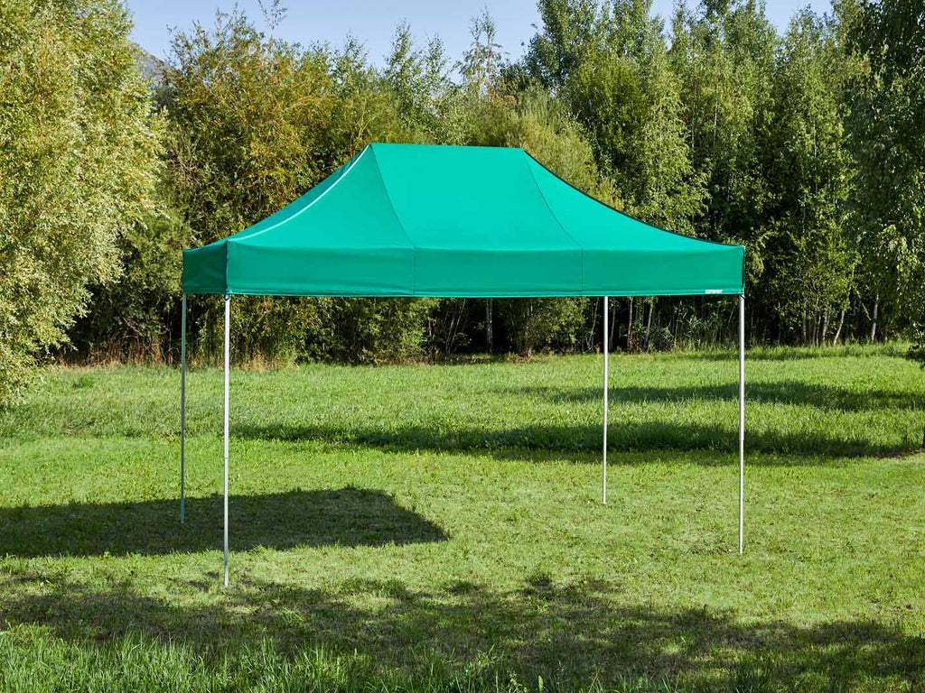 Carpa plegable de 4,5x3 m - verde