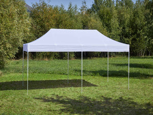 Carpa plegable de 6x3 m - blanco