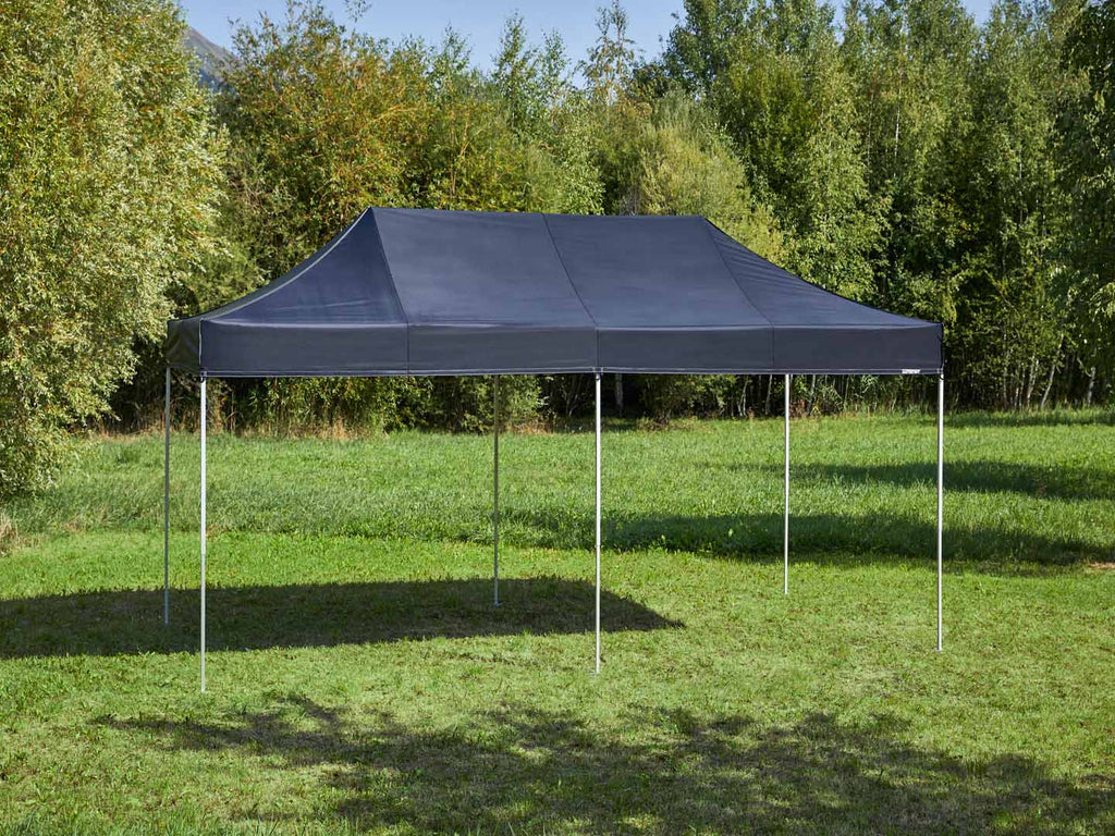Carpa plegable de 6x3 m - negro