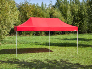 Carpa plegable de 6x3 m - rojo