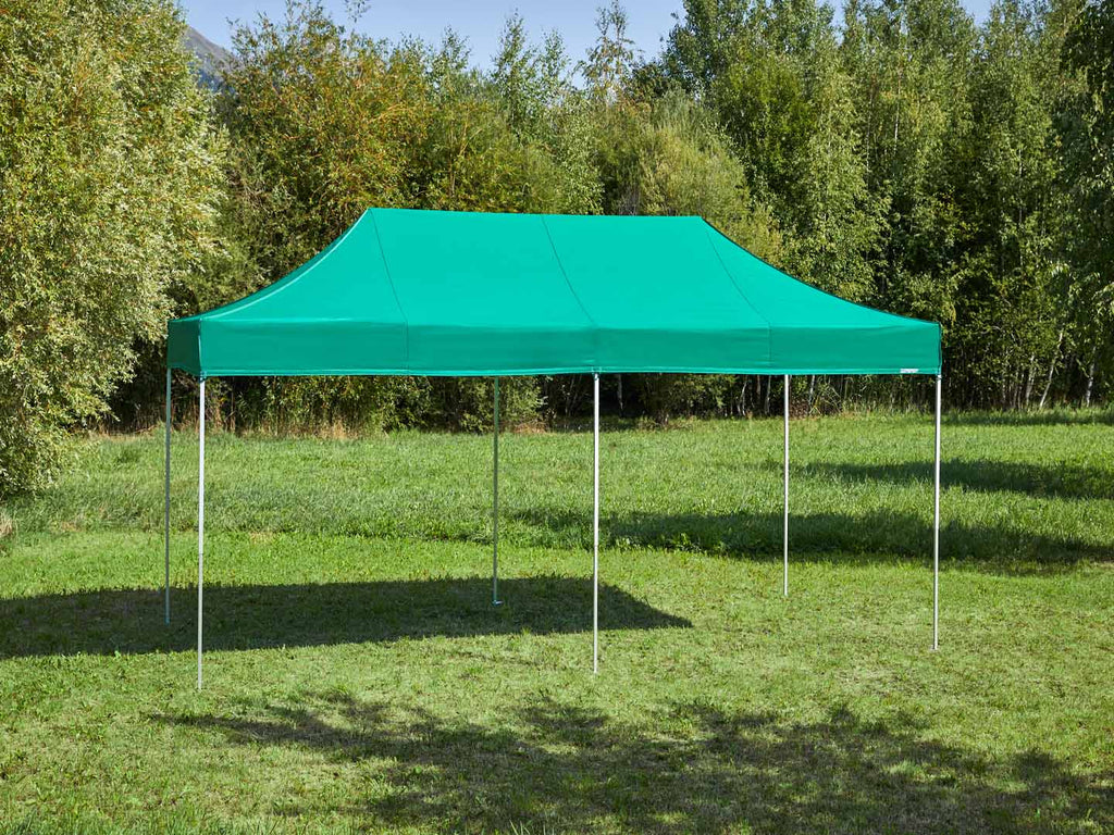 Carpa plegable de 6x3 m - verde