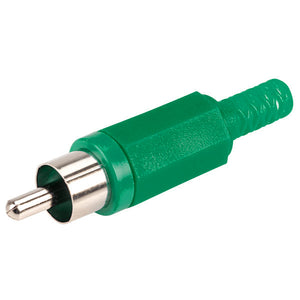 RCA Phono Audio Visual AV Male Plug Solder Cable Connector - Green