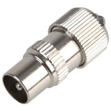 Coax Coaxial Male Aerial Freeview TV Plug Screw Type Cable Connector