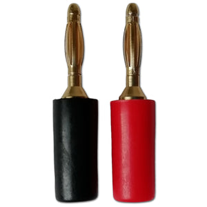 Mini Banana Plug 2mm Solder Speaker Connector Gold Plated Black Red x 1 Pair