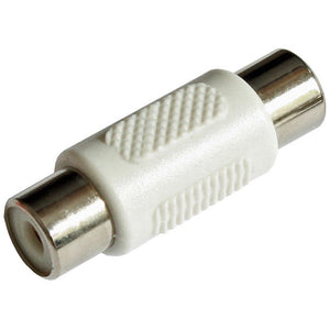 Single RCA Phono Female Socket Coupler Joiner Adaptor Connector - White