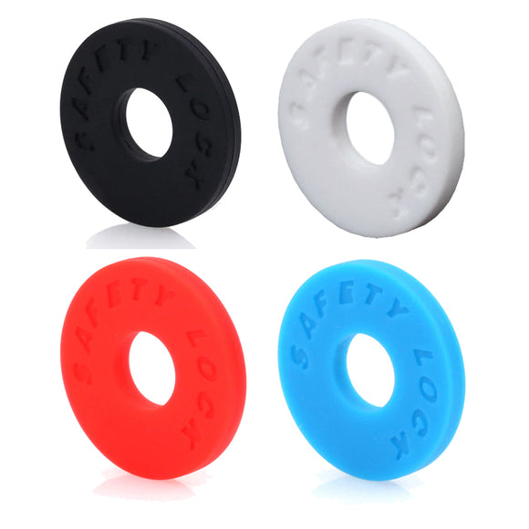 Rubber Guitar Strap Anti-Slip Safety Lock Washer Stopper Black White Red Blue