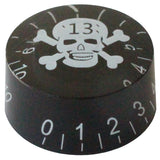 Lucky Number 13 Skull & Crossbones Guitar Tone Volume Knob Dial Button