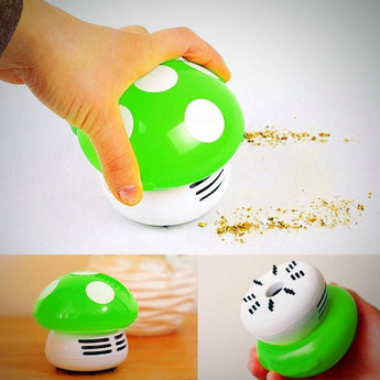 Mini Vacuum Cleaner - Mushroom - Green - Features