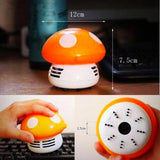 Mini Vacuum Cleaner - Mushroom - Orange - Dimensions