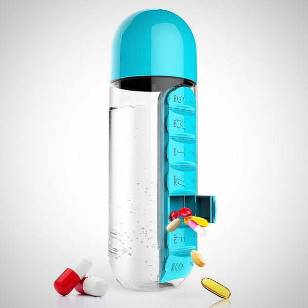 Water Bottle (with pill box)