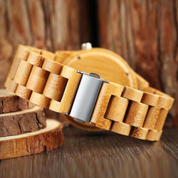 Natural Bamboo Watch - On wood
