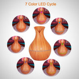 Electric Wooden Humidifier (Aroma diffuser) - Light wood - LED cycle