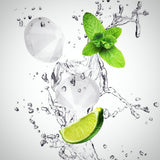 Diamond-Shaped Ice Cube Silicone Tray - Water+lime