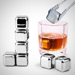 Stainless Steel Chilling Cube Stones (with gel center) - 8 pcs - photo