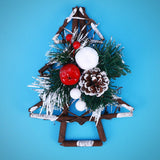 Christmas Tree - Door Mount blue background