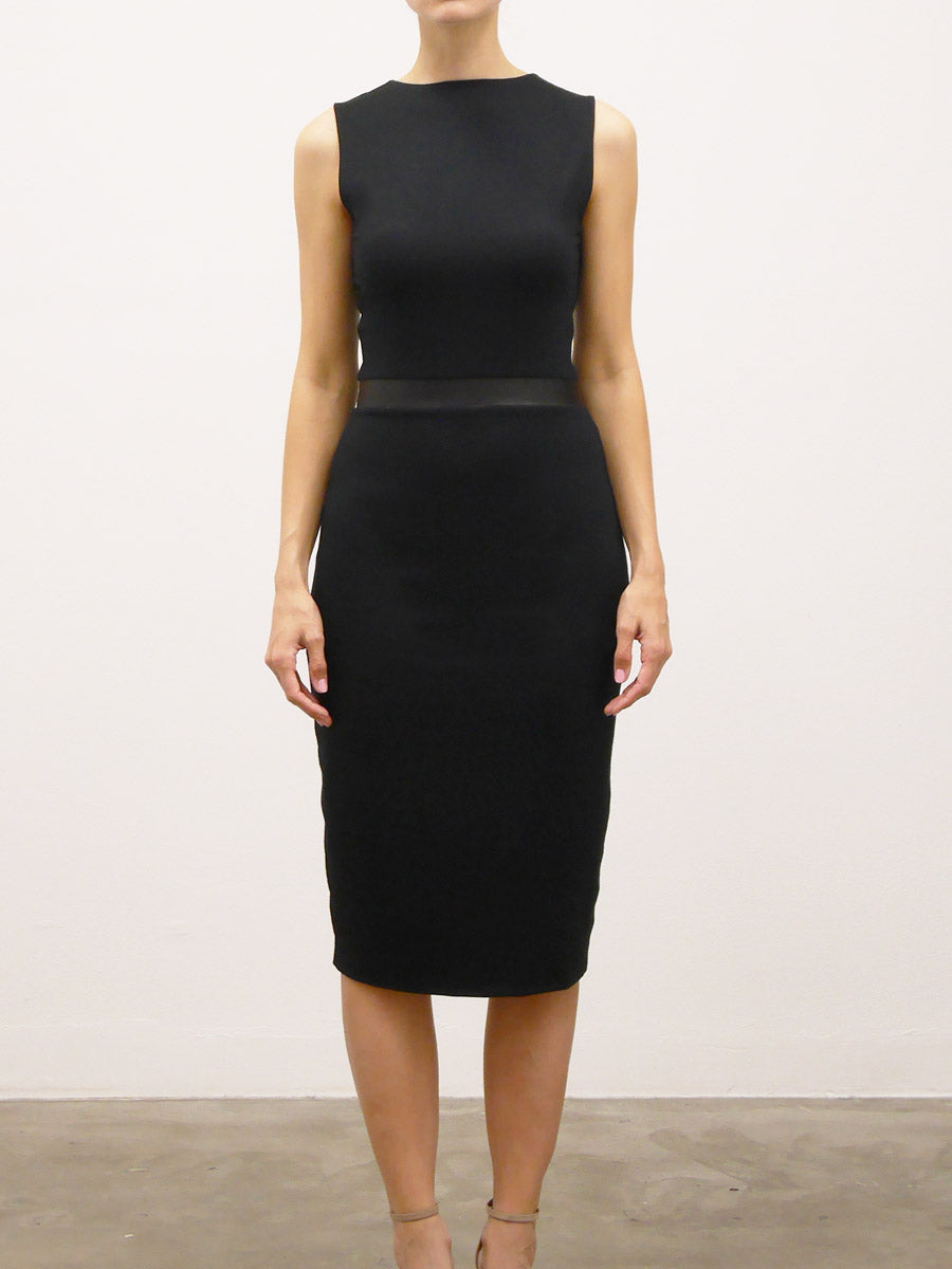 reversible-dress-with-leather-inset
