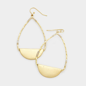 Myra Wire Wrapped Earring Gold