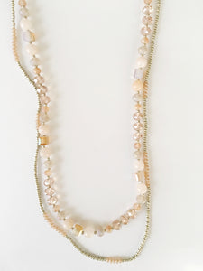 Blush and Gold Layered Necklace