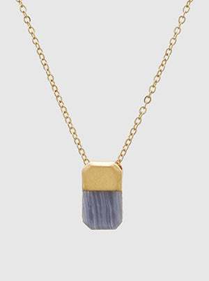 Jessie Delicate Drop Necklace Periwinkle Natural Stone