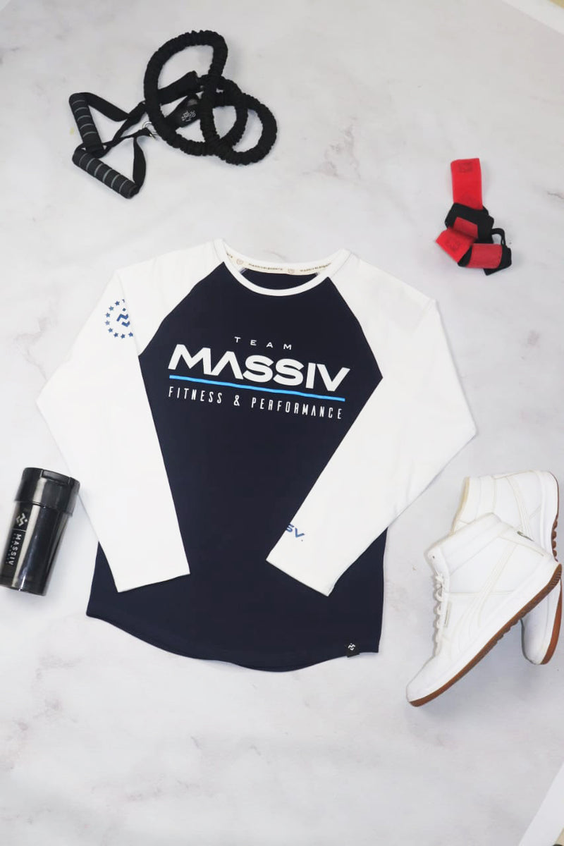 Old School Team Massiv Raglan - White / Blue