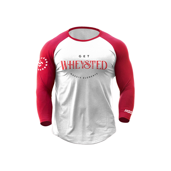 Old School Wheysted Raglan - Red / White