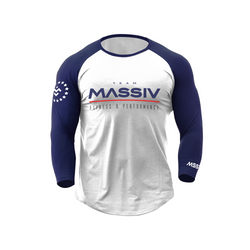 Old School Team Massiv Raglan - Blue / White