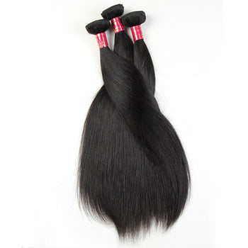 Sweetie Malaysian Straight Human Hair Weave 3 Bundles