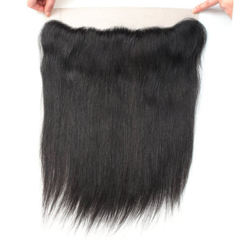 Ama 13x4 Ear To Ear Indian Virgin Straight Hair Lace Frontal Closure - ExcellentVirginHair