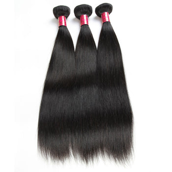 Sweetie Indian Straight Hair 3 Bundles Virgin Human Hair Weaves - ExcellentVirginHair