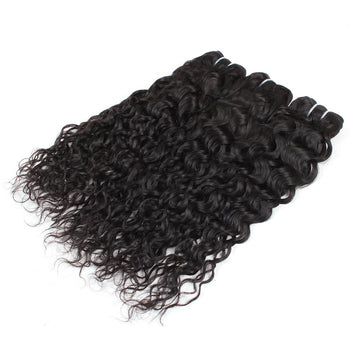 Indian Water Wave Virgin Human Hair 3 Bundle Deals - ExcellentVirginHair