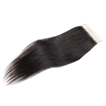 Peruvian Straight Lace Closure 4x4 Swiss Lace Closure Straight Human Hair - ExcellentVirginHair