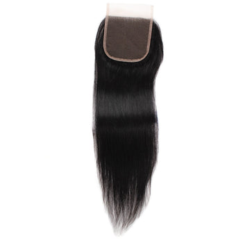 Indian Straight Lace Closure 4x4 Swiss Lace Closure Straight Human Hair - ExcellentVirginHair