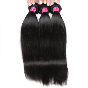 Indian Straight Hair 3 Bundles Virgin Human Hair Weaves - ExcellentVirginHair
